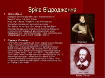 Зріле Відродження Філіп Сідні Народився 30 листопада 1554 в Кенті , Королівс...