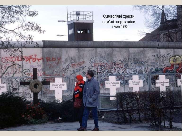 Символічні хрести пам'яті жертв стіни, січень 1990