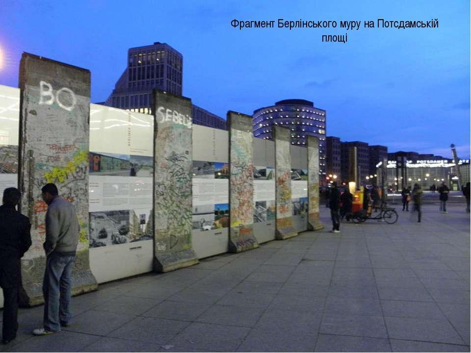 Фрагмент Берлінського муру на Потсдамській площі
