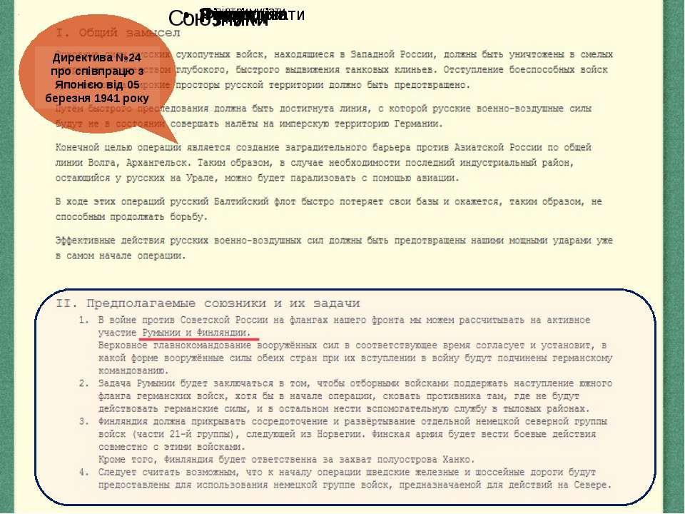 Директива №24 про співпрацю з Японією від 05 березня 1941 року