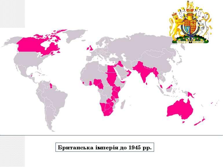 Британська імперія до 1945 рр.