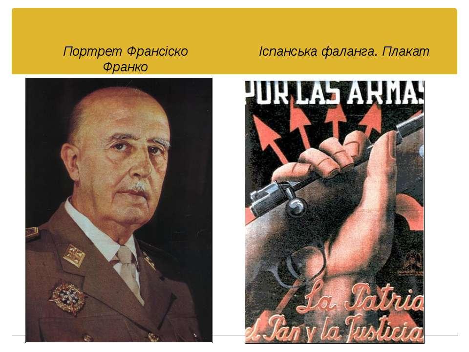 Портрет Франсіско Франко Іспанська фаланга. Плакат