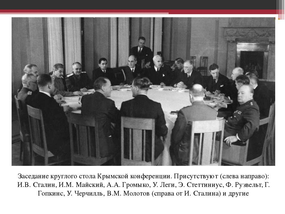 Заседание круглого стола Крымской конференции. Присутствуют (слева направо): ...