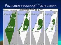 Розподіл території Палестини 1945 1947 1967 2000