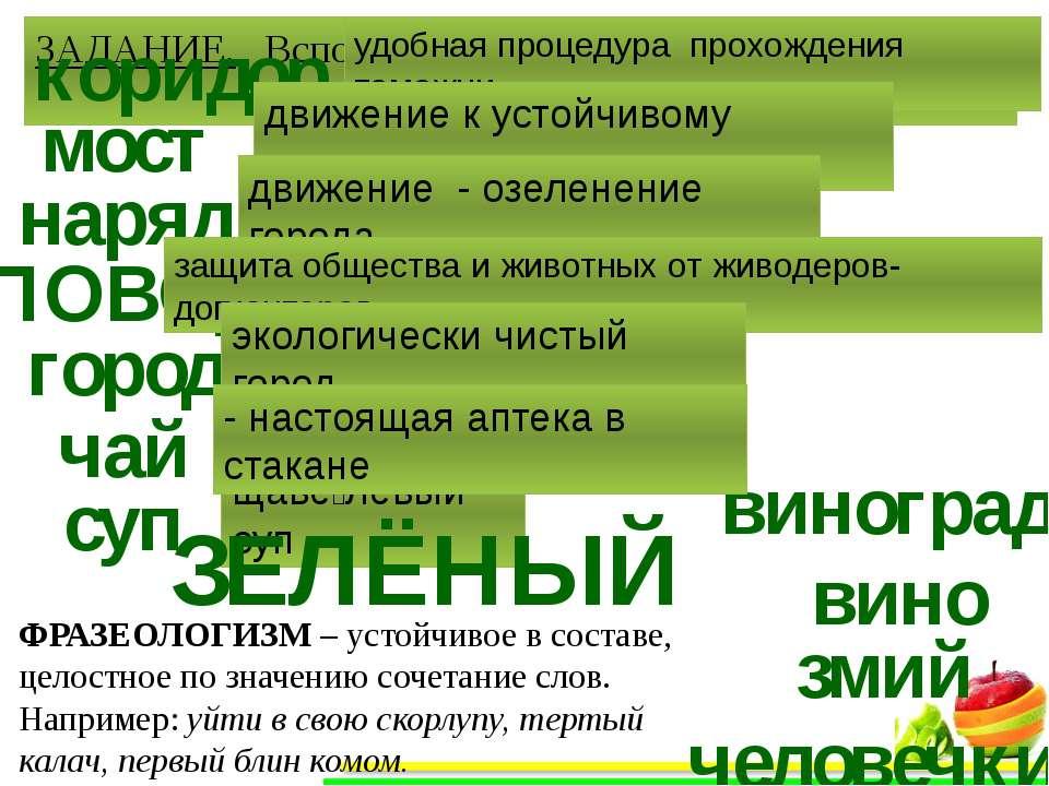 базар зелёный? Дать зеленый свет зéленый? Как правильно сказать и почему?