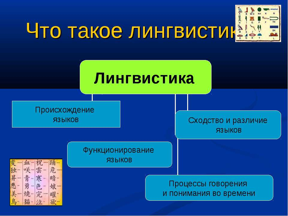 Что такое лингвистика?
