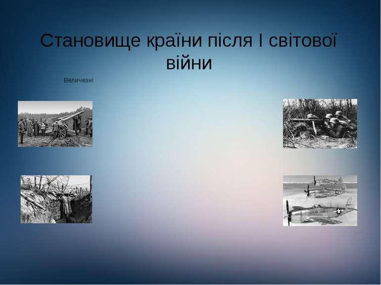 Становище країни після І світової війни
