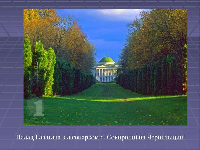 Палац Галагана з лісопарком с. Сокиринці на Чернігівщині