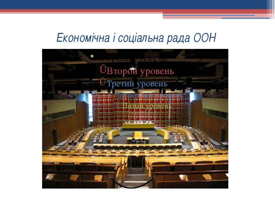 Економічна і соціальна рада ООН
