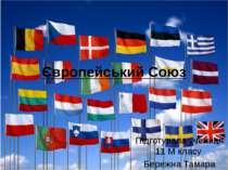 Підготувала учениця 11 М класу Бережна Тамара Європейський Союз