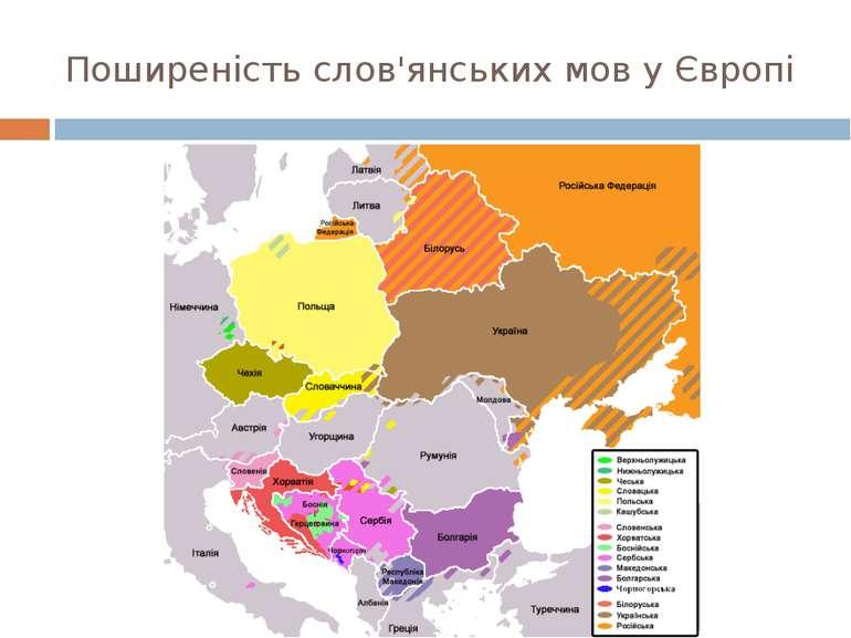 Поширеність слов'янських мов у Європі