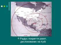 Радіус покриття ракет, дислокованих на Кубі