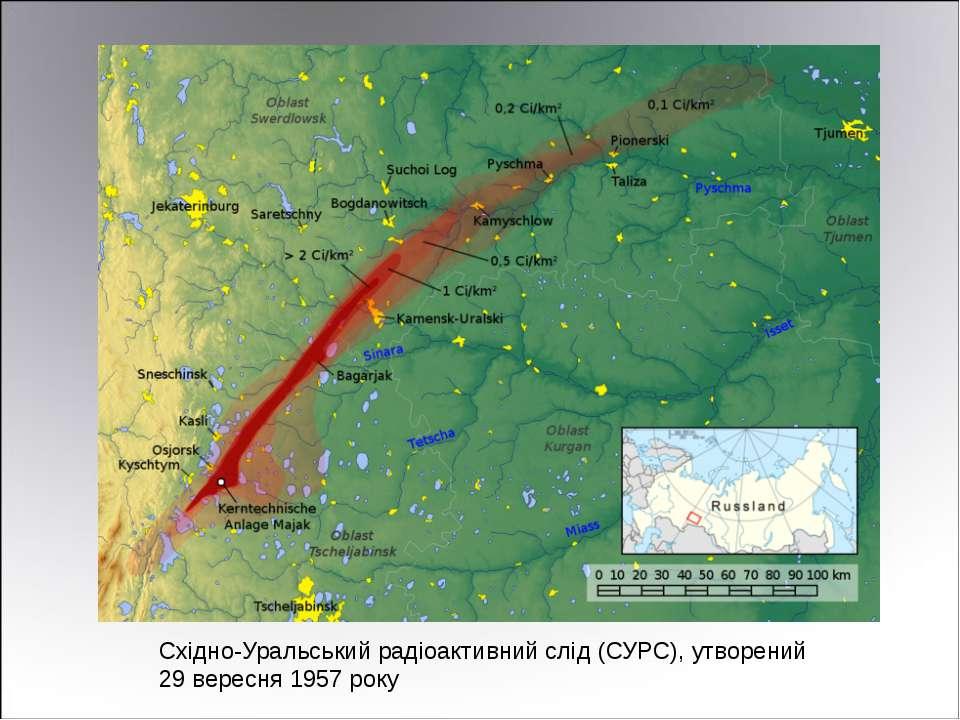 Східно-Уральський радіоактивний слід (СУРС), утворений 29 вересня 1957 року