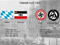 Штурмові загони НСДАП Баварія Рейхсвер Адольф Гітлер Еріх Людендорф Ернст Рем...