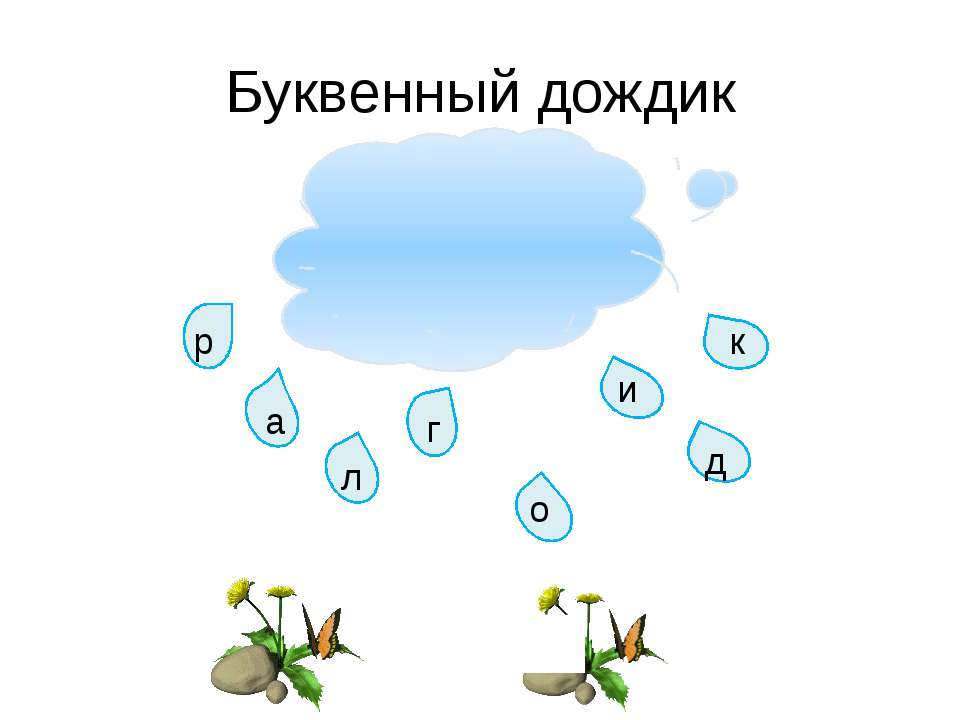 Буквенный дождик р а л г и к о д