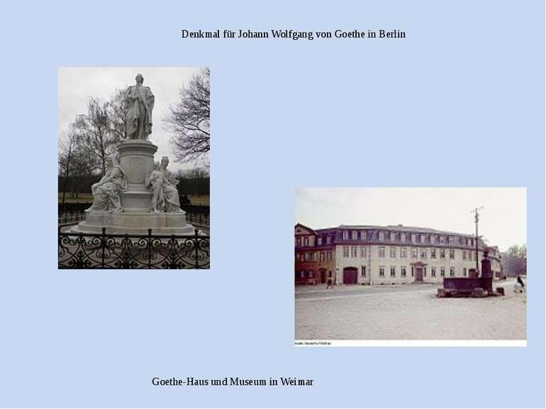 Goethe-Haus und Museum in Weimar Denkmal für Johann Wolfgang von Goethe in Be...