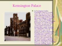 Kensington Palace In Kensington Garden Kensington Palace is located, where sh...
