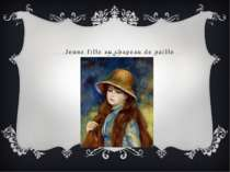Jeune fille au chapeau de paille