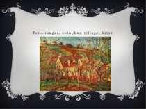 Toits rouges, coin d'un village, hiver