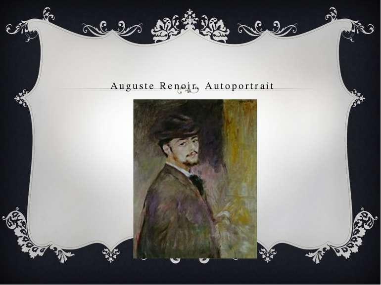 Auguste Renoir, Autoportrait