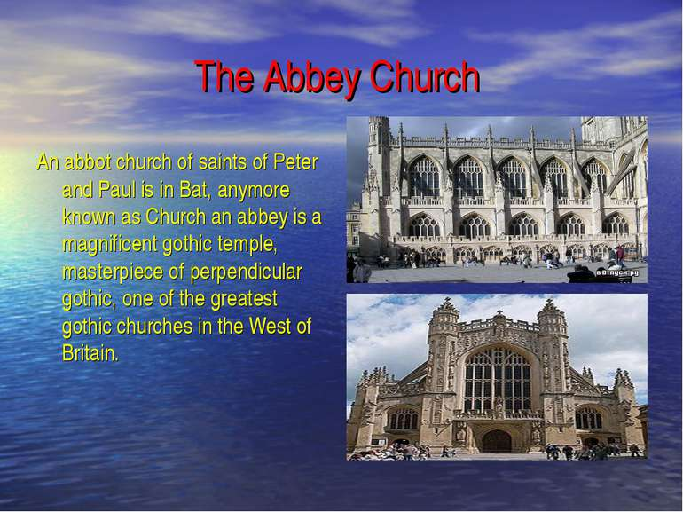 The Abbey Church An abbot church of saints of Peter and Paul is in Bat, anymo...