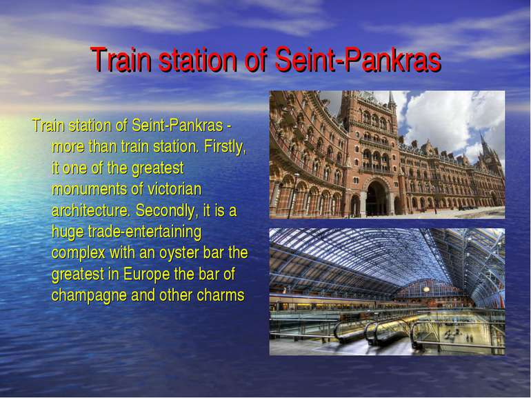 Train station of Seint-Pankras Train station of Seint-Pankras - more than tra...