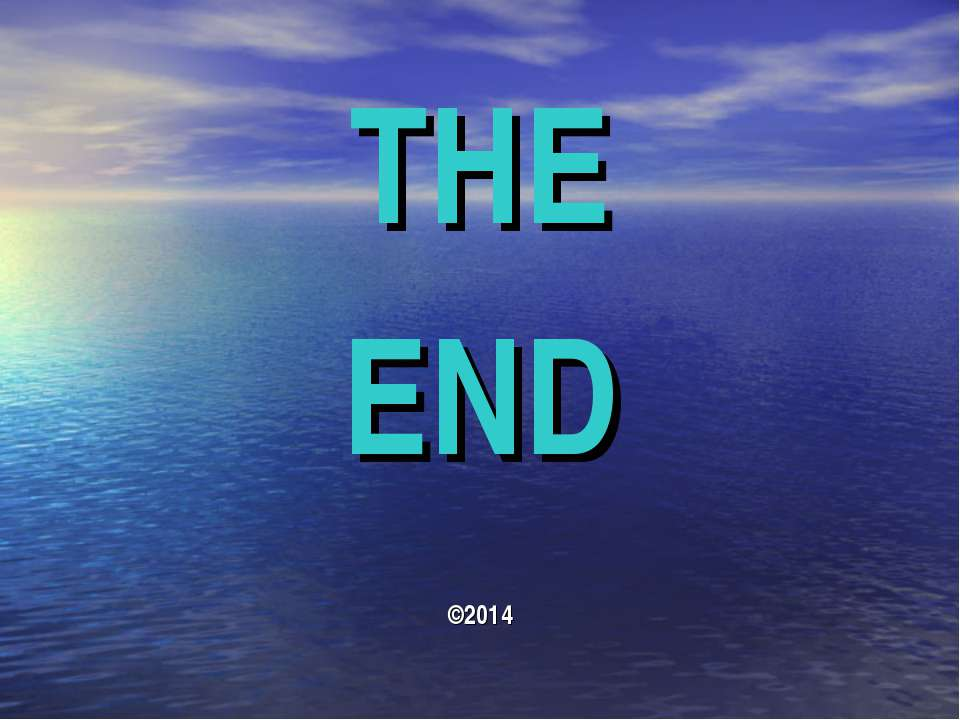 THE END ©2014
