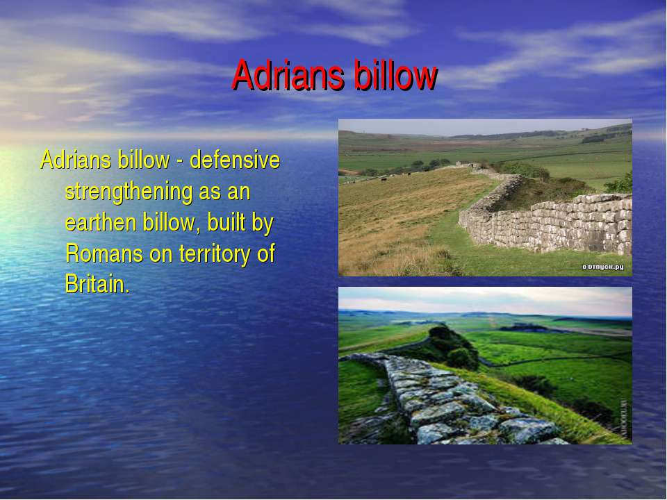 Adrians billow Adrians billow - defensive strengthening as an earthen billow,...