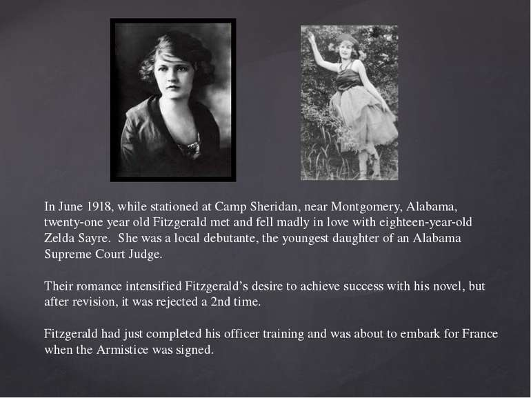 In June 1918, while stationed at Camp Sheridan, near Montgomery, Alabama, twe...