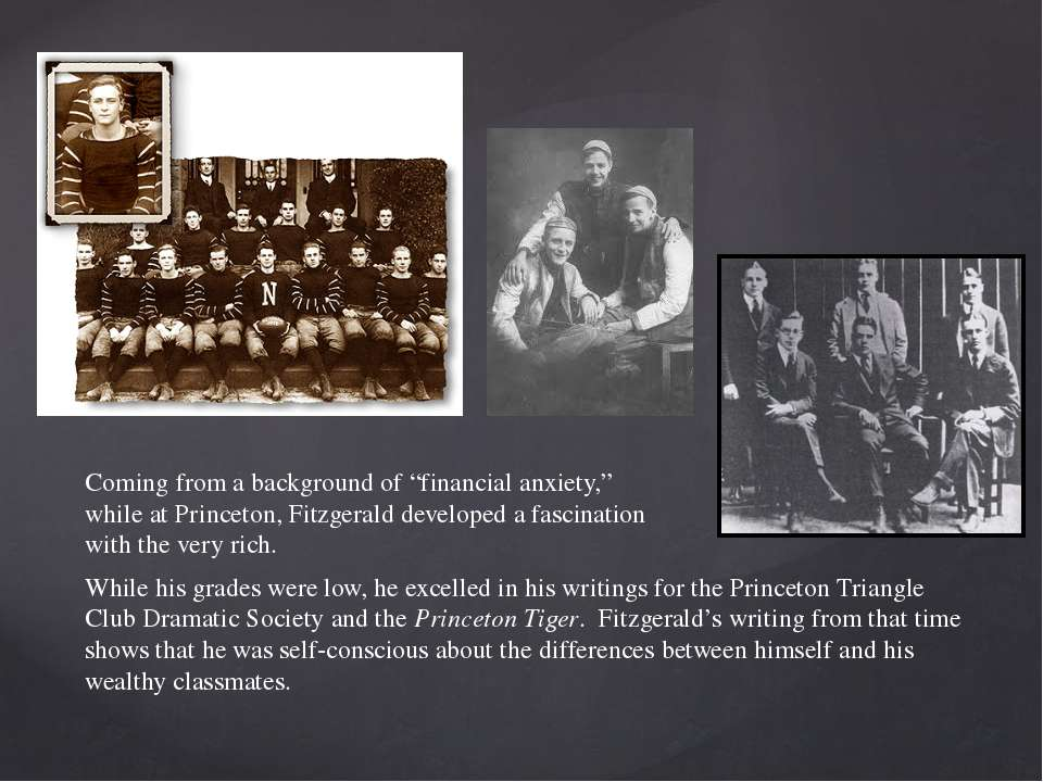 While his grades were low, he excelled in his writings for the Princeton Tria...
