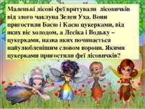 Маленькі лісові феї врятували лісовичків від злого чаклуна Зелен Уха. Вони пр...