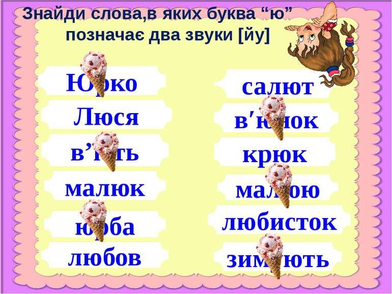 Юрко любов Люся юрба малюк в'ють в′юнок салют малюю крюк любисток зимують Зна...
