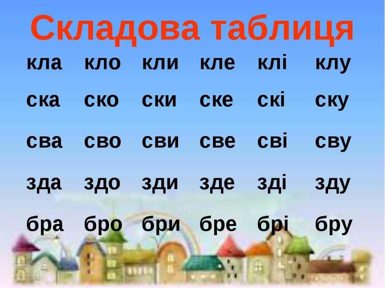 Складова таблиця