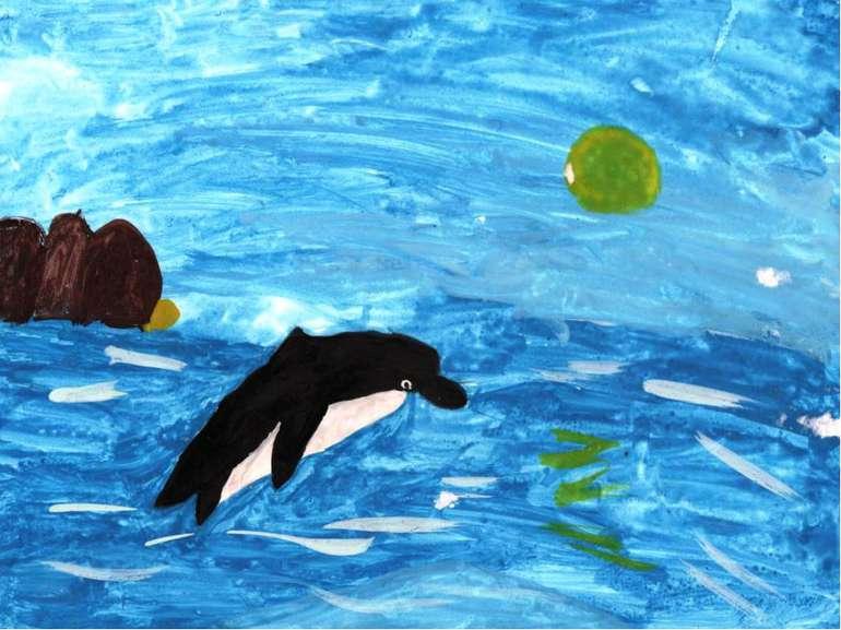 Урок. Морський пейзаж - презентація з образотворчого мистецтва
