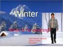 Winter What is he wearing? Підготувала і провела: Окопна Олена Василівна