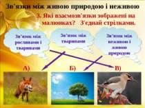 Зв'язки між живою природою і неживою Зв'язок між рослинами і тваринами Зв'язо...