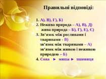 1. А), В), Г), Б) 2. Нежива природа – А), В), Д) жива природа – Б), Г), Е), Є...