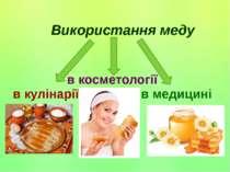 Використання меду в кулінарії в медицині в косметології