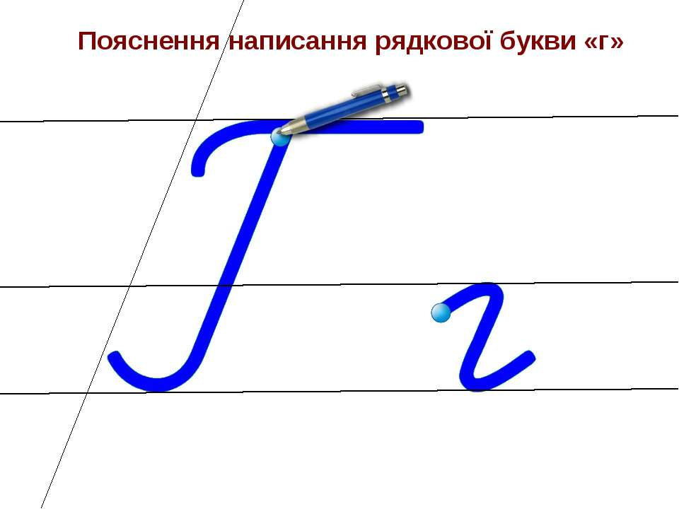 Пояснення написання рядкової букви «г»