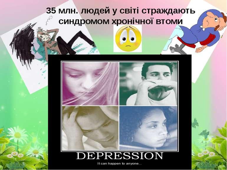 35 млн. людей у світі страждають синдромом хронічної втоми