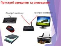 Пристрої введення та виведення