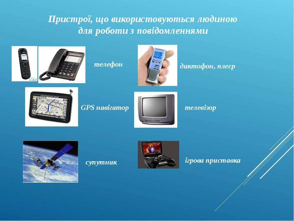 Пристрої, що використовуються людиною для роботи з повідомленнями телефон дик...