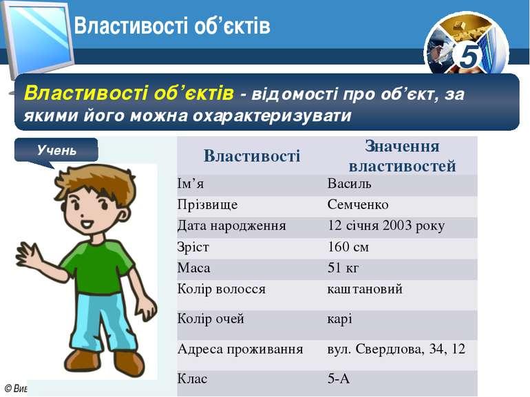 Властивості об'єктів Властивості об'єктів - відомості про об'єкт, за якими йо...