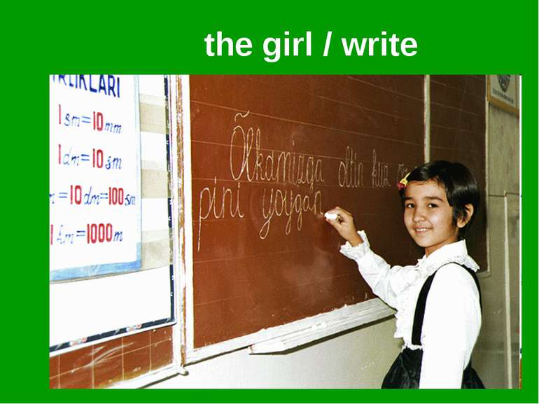 the girl / write