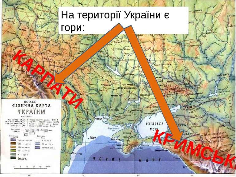 На території України є гори: КАРПАТИ КРИМСЬКІ