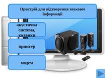 акустична система, колонки принтер модем Пристрій для відтворення звукової ін...