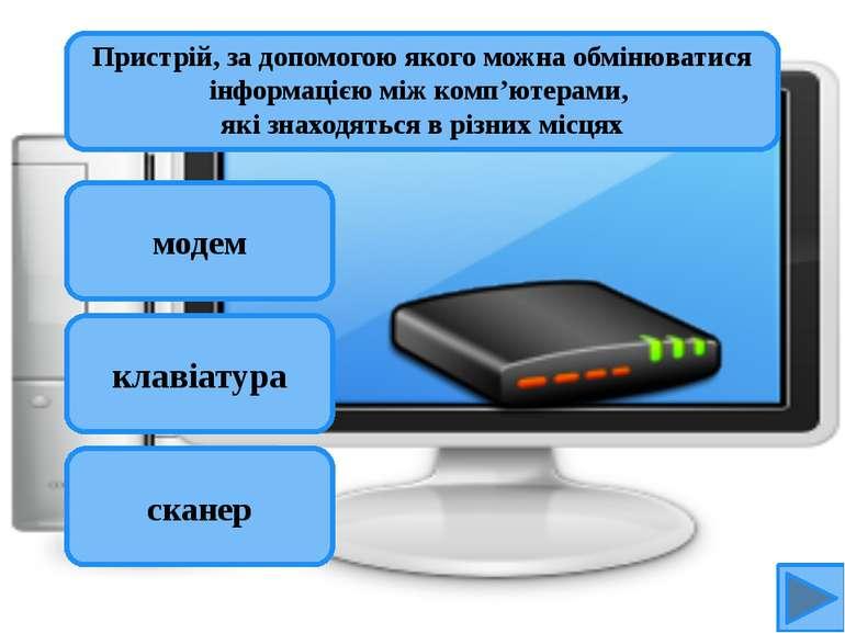 модем клавіатура сканер Пристрій, за допомогою якого можна обмінюватися інфор...