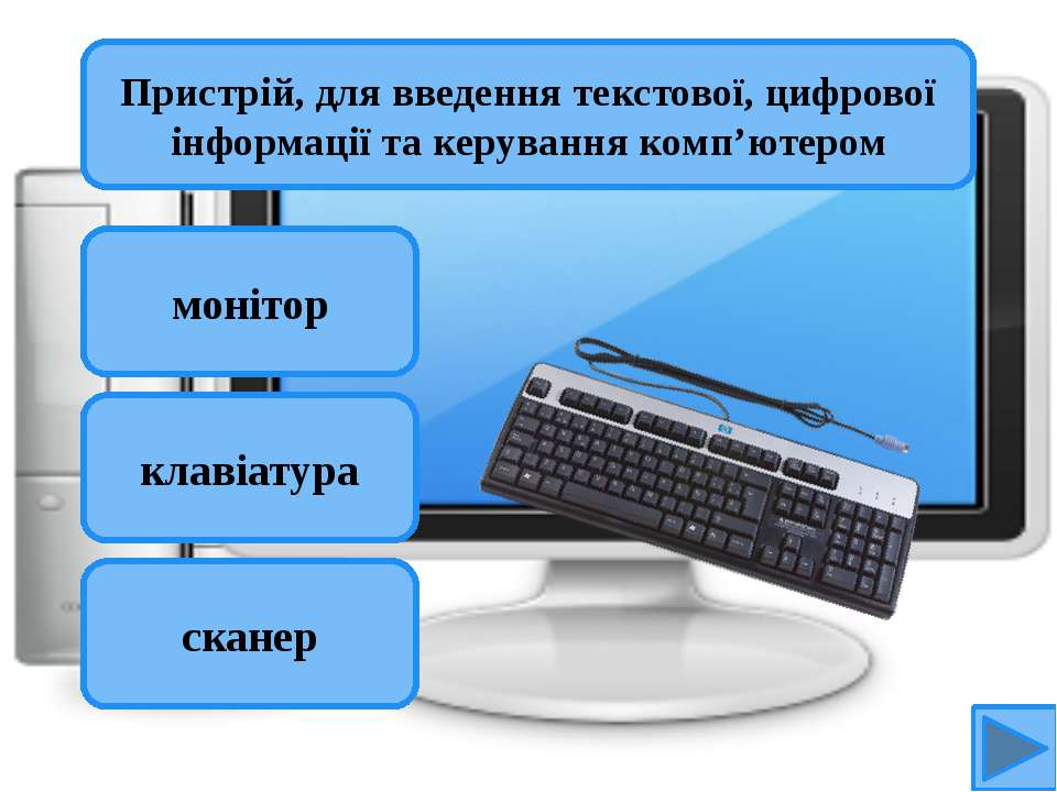 Пристрій, для введення текстової, цифрової інформації та керування комп'ютеро...