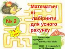 Презентацію підготувала вчитель початкових класів БЗШ І – ІІІ ступенів № 3 ім...