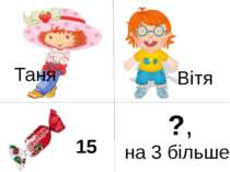 Таня Вітя 15 ?, на 3 більше